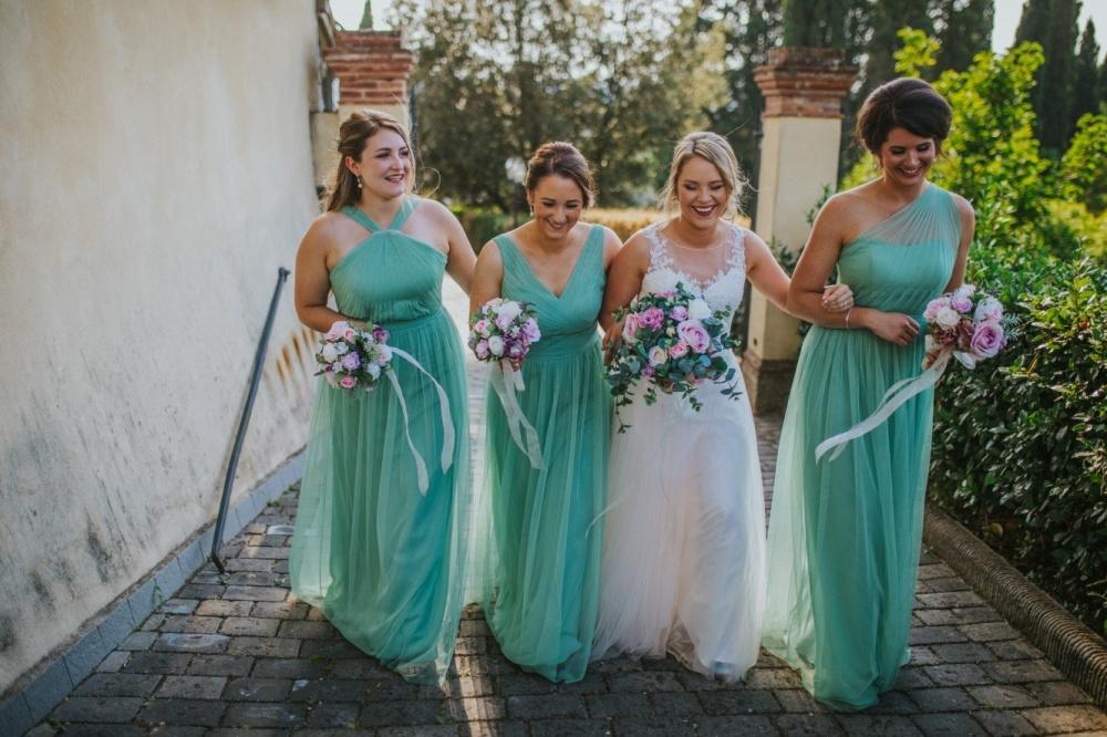 bride-and-bridesmaids-after-wedding-ceremony