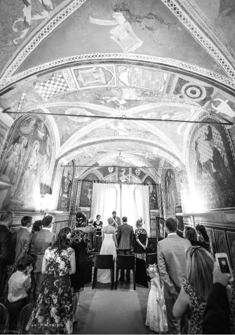 civil wedding celebration San Miniato, Tuscany