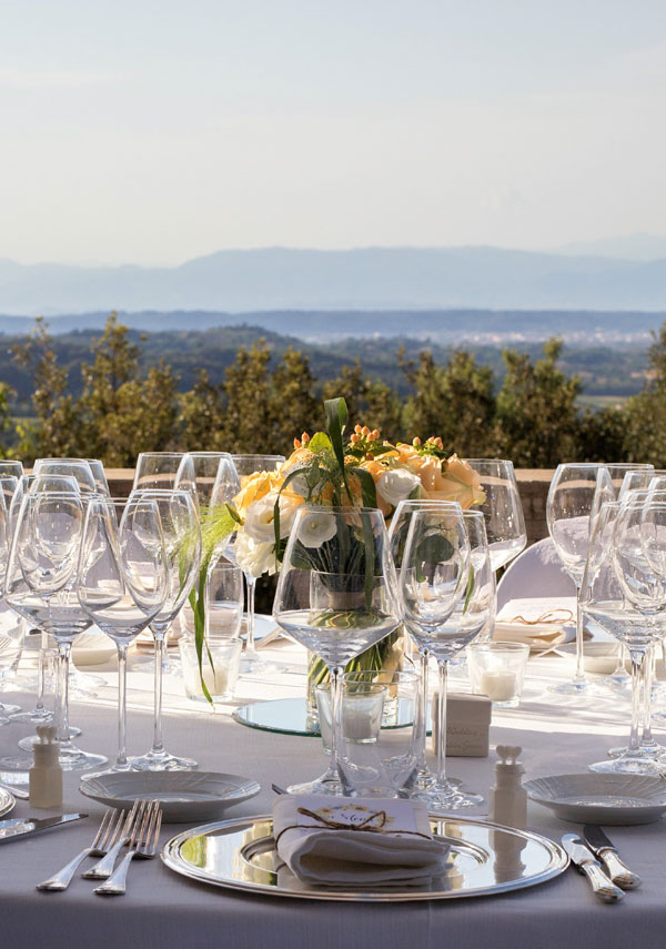 panoramic terrace for events in a Tuscan villa