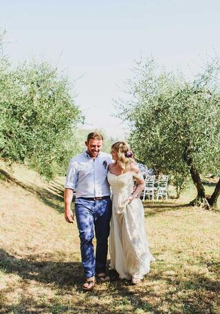 symbolic wedding ceremony, olive trees, Villa Tuscany