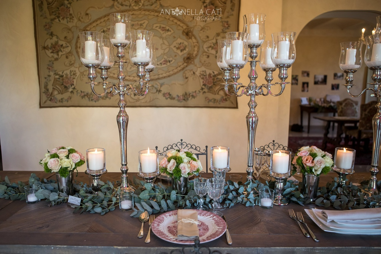 Wedding banquet in a private villa in Tuscany